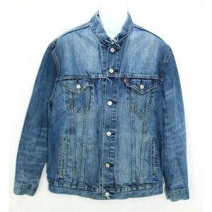 Levi Strauss Men's XL Jean Jacket  Distressed
